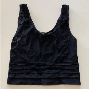 Bebe black crop top